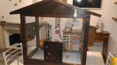 gabbie per uccelli fai da te gabbia per pappagalli cocorite fai da te legno con nido e