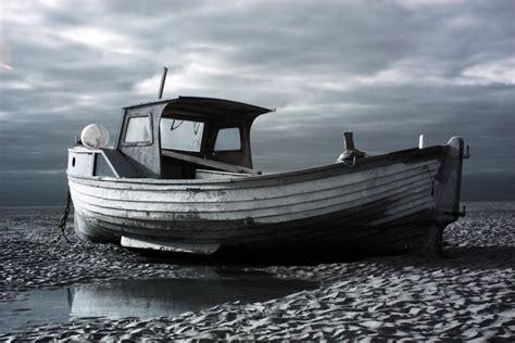old wooden boat infrared study of old wooden boat at meols boats big
