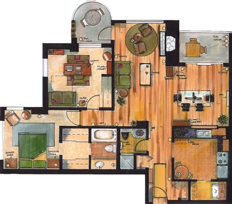 apartments house plans layout a sle set of apartment floor plan by phadinah on deviantart