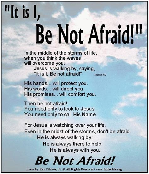 Be Not Afraid by Be Not Afraid Quote This