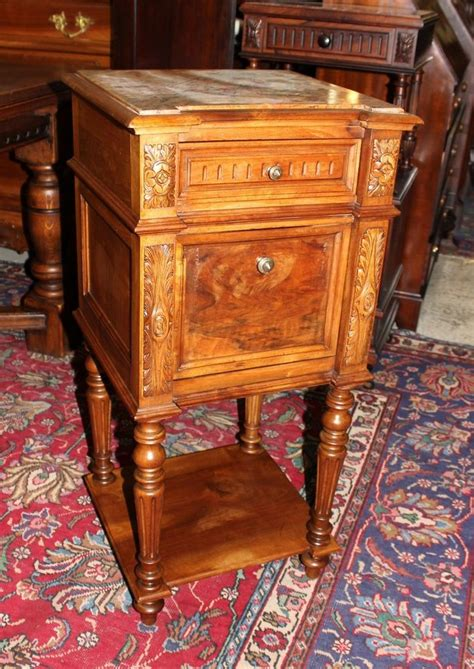 Antique Marble Top Nightstand by Details About 19th Century Cabinet Nightstand