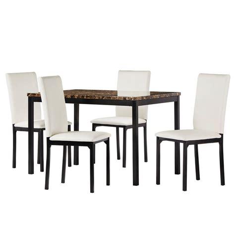 dorel living shiloh 5 white rustic mahogany dining set da7358 the home depot