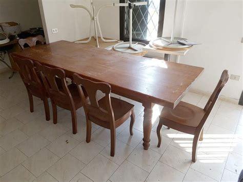 tavolo e sedie usate tavolo e sedie da salotto in legno massello a verona