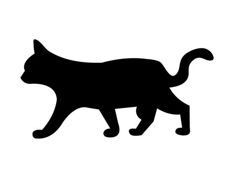 printable cats targets silhouette of cats cliparts co