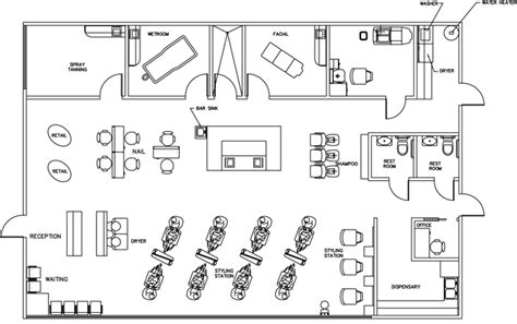 beauty salon floor plan beauty salon floor plan design layout 2385 square foot