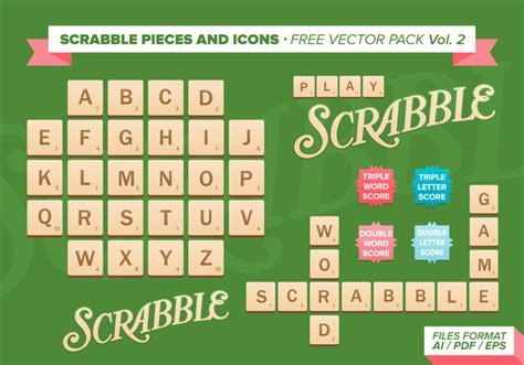 is non a scrabble word scrabble pieces and icons free vector pack free
