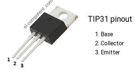 transistor tip31 tip31 n p n transistor complementary pnp replacement pinout pin configuration substitute
