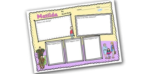 roald dahl book review template book review writing frame to support teaching on matilda