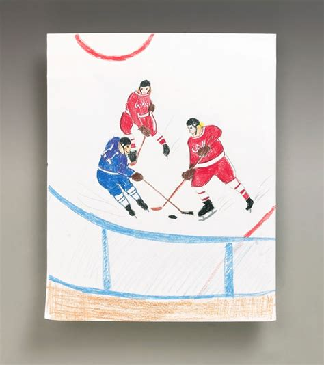hockey crafts for hockey heroes craft crayola