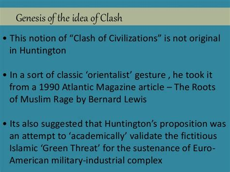 Clash Of Civilizations Essay by Bernard Lewis Thesis