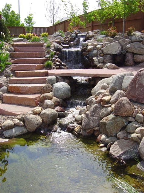 Build A Backyard Waterfall And by 75 Relaxing Garden And Backyard Waterfalls Digsdigs