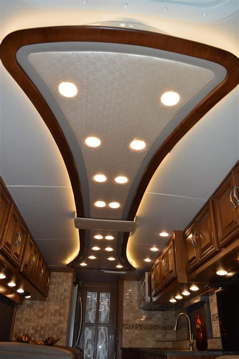 rv ceiling light custom ceiling rv renovations by classic coach works