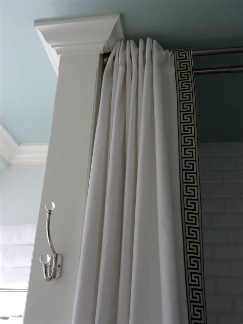 how to make a shower curtain rod for clawfoot tub hazardous design shower curtain diy style