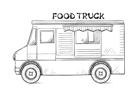 food truck design drawing food truck drawing food