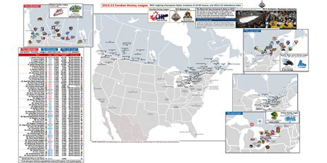 Bmo Kitchener Locations by Canadian Hockey League Location Maps For Whl Ohl And