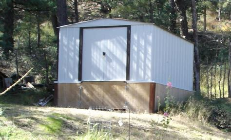 cheap metal shed  steps instructables