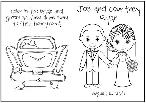 Wedding Coloring Book Pages Bell Rehwoldt Com