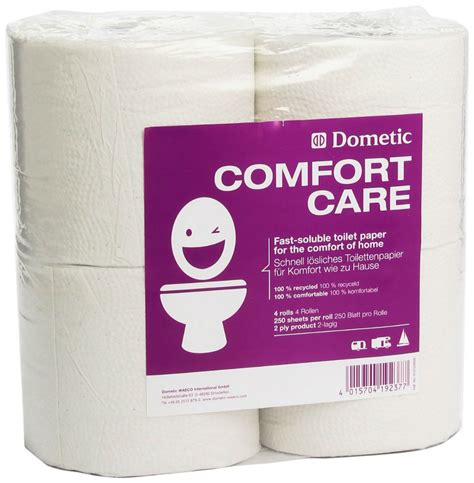 comfort care dometic comfort care toilet rolls