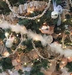 christmas tree ivory garland ideas burlap and tulle garlands allfreechristmascrafts