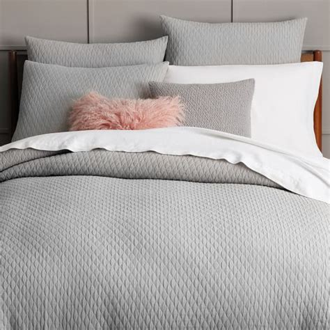 Ikea Bed Duvet Ripple Texture Duvet Cover Shams Platinum West Elm