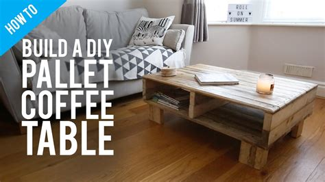 how to build coffee table how to build a diy rustic pallet coffee table