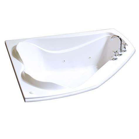 5 ft jacuzzi bathtub maax cocoon 6054 5 ft whirlpool tub in white 102724 091