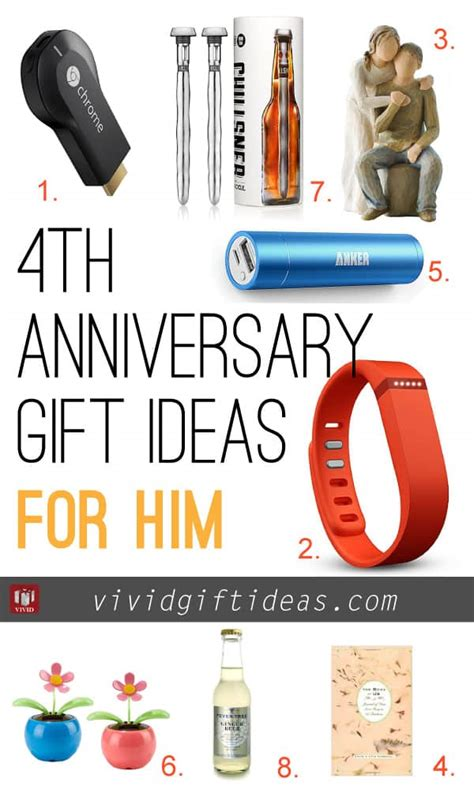 ideas for him 4th wedding anniversary gift ideas s