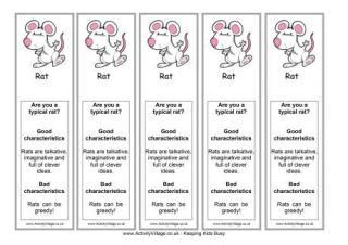 new year meaning of rat new year bookmarks