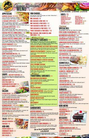 world german restaurant huntington menu