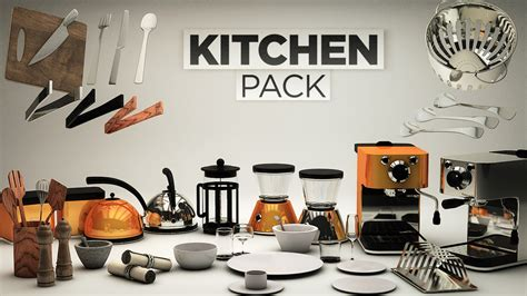 Kitchen Knife Designs introducing the 3d kitchen pack the pixel lab