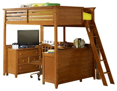 tall loft bed lea willow run tall loft bed with desk in rich toffee