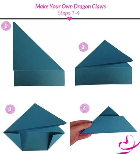 How To Make Paper Claws - steps to make a origami food ideas