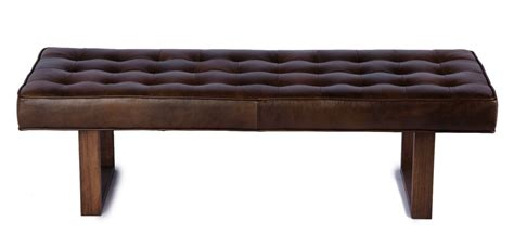 retro bench retro modern genuine leather bench ottoman coffee table