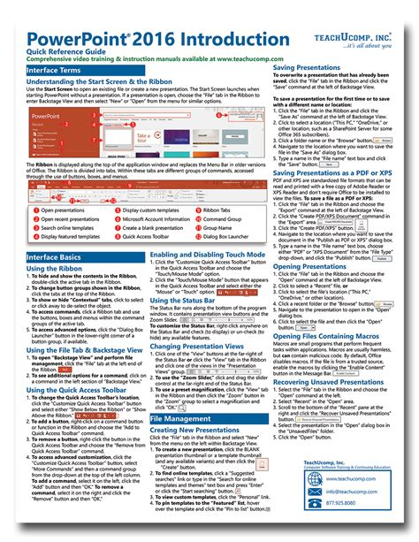 reference card template publisher microsoft powerpoint 2016 introductory reference