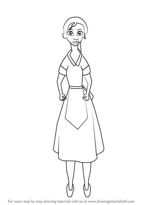 learn   draw waitress tiana   princess