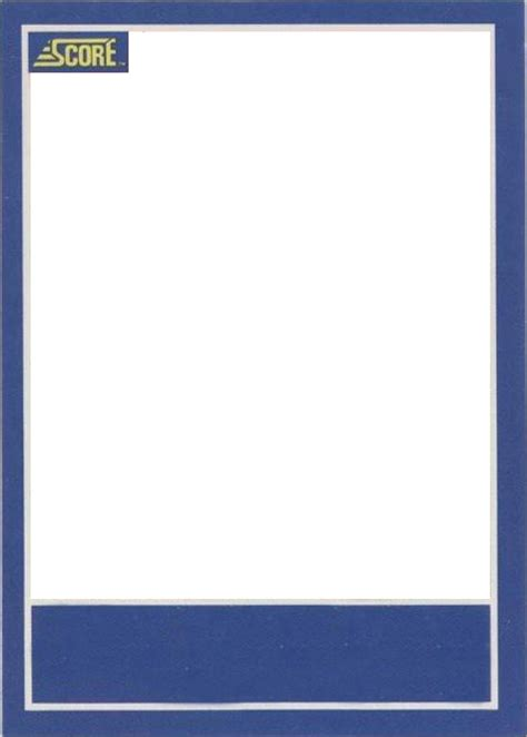 sports card template png blank trading card template www pixshark images