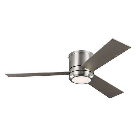 56 Inch Ceiling Fan With Light by Clarity Max Brushed Steel 56 Inch One Light Led Ceiling