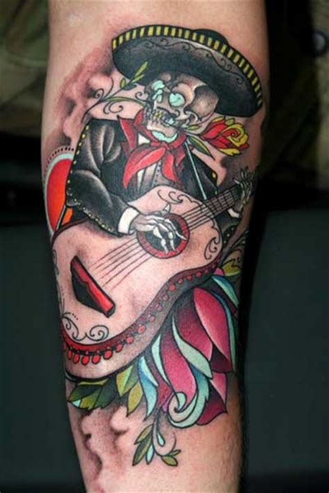 mariachi tattoo skeleton mariachi www imgkid the image kid