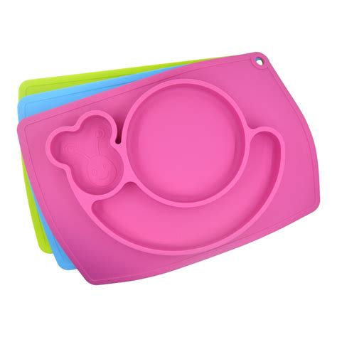 Silicone Plate Placemat Pinguin baby placemat plate tray suction patterns silicone placemats for 38 25cm placemat for