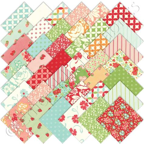 Quilting Fabric Charm Packs by Moda Hello Charm Pack Emerald City Fabrics