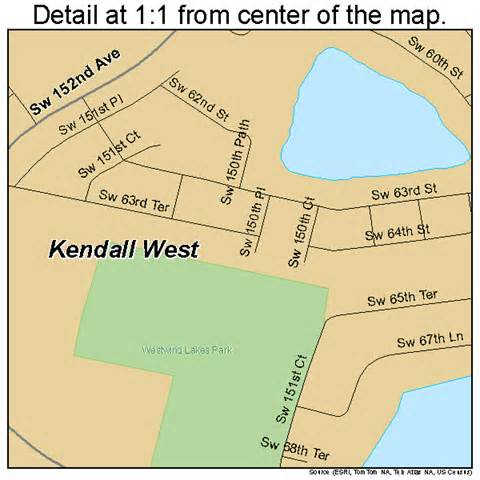 where is kendall florida on a map kendall west florida map 1236121