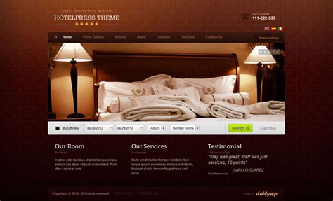 hotel reservation layout 11 beautiful wordpress themes for hotels and b bs