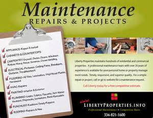 liberty properties maintenance request
