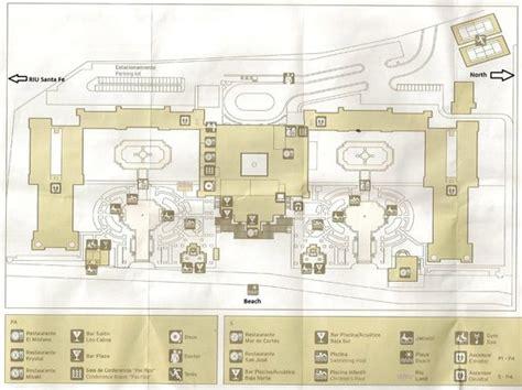 riu palace map picture of hotel riu palace cabo san