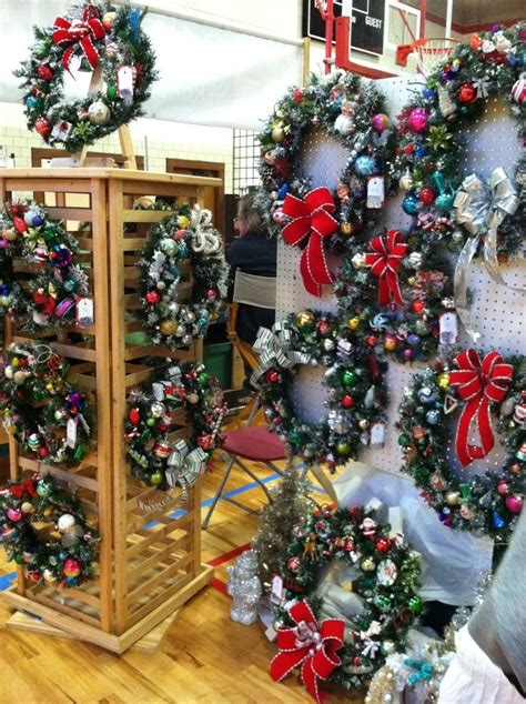 how to display christmas ornaments at fair display boards for wreaths craft show wreath display from sixty fifty one designs wreaths