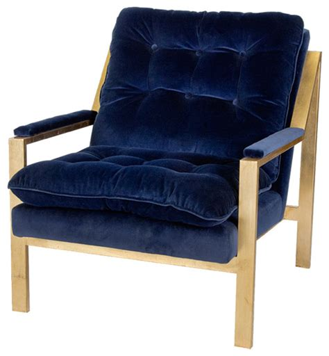 navy blue accent chair cumulus regency navy blue velvet gold arm chair contemporary armchairs and accent