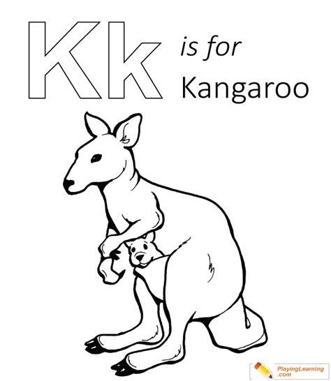 K Kangaroo Coloring Page by 100 K Is For Kangaroo Coloring Page Free Printable