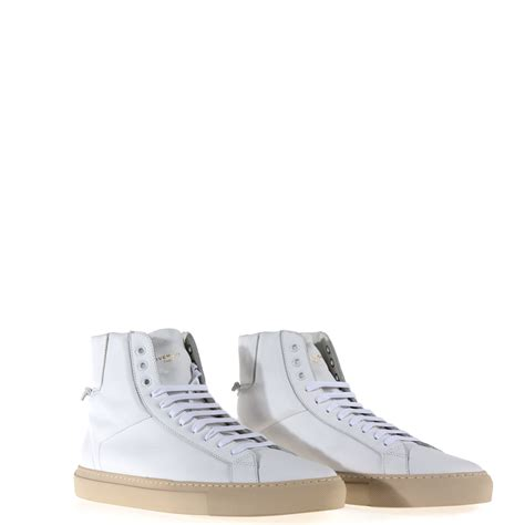 Lace Up High Top Sneakers lyst givenchy high top lace up sneakers in white for