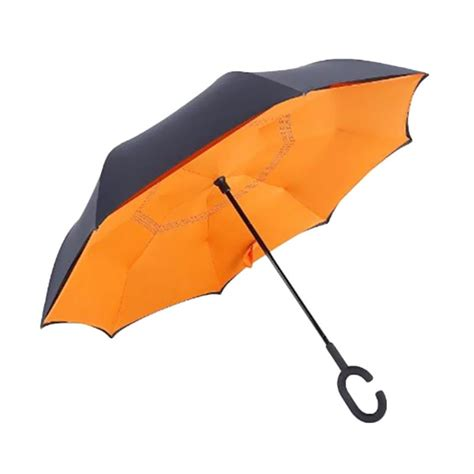 Umbrella Payung Unik Kazbrella Payung Terbalik jual kazbrella umbrella terbalik payung orange