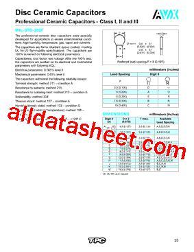 avx capacitor datasheet search 5nr102kadlh datasheet pdf avx corporation